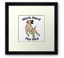 Work Hard, Play Hard - Buckskin Framed Print