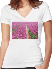 purple patch Women's Fitted V-Neck T-Shirt