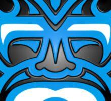 Stylish Blue and Black Mayan Mask Sticker