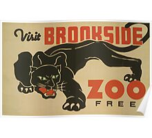 WPA United States Government Work Project Administration Poster 0524 Visit Brookside Zoo Free Black Panther Poster