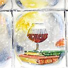 Winter Cheers - Snow, Books, Fire and Candlelight... by Rob Beilby
