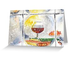 Winter Cheers - Snow, Books, Fire and Candlelight... Greeting Card