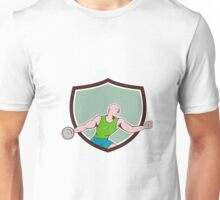 Discus Thrower Crest Cartoon Unisex T-Shirt