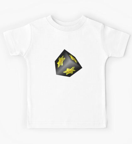 Daffodil on Black Kids Tee