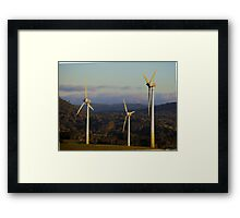 movement of air to power Framed Print