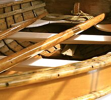Wooden Life Boat from a Tall Sailing Ship by Julie  Davison