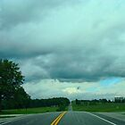 A Stormy Day on a Country Road by barnsis