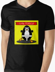sumo penguin Mens V-Neck T-Shirt