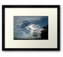 Weird and Wacky Clouds Framed Print