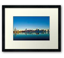 Chicago skyline at sunrise. Framed Print
