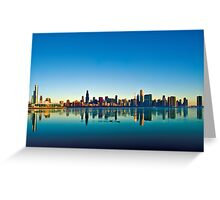 Chicago skyline at sunrise. Greeting Card