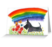 Scottie Dog 'Rainbow' Greeting Card