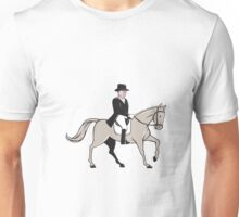 Equestrian Rider Dressage Cartoon Unisex T-Shirt