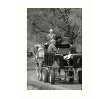Wagon Ride Art Print