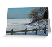 Winter on Lake Ontario Greeting Card