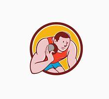 Shot Put Track and Field Athlete Circle Cartoon Unisex T-Shirt