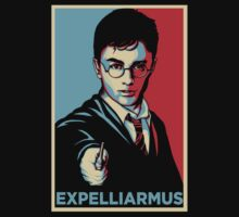Expelliarmus Harry Potter Daniel Radcliffe Shirt - In Obama Hope Style T-Shirt  by spacemonkeydr