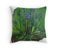 Blue Bells Throw Pillow