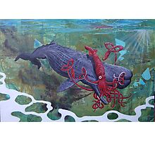Clash of the Sea Monsters Photographic Print
