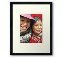Flor y Yolanda Framed Print