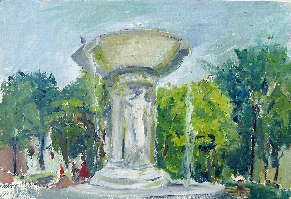 Fountain at Dupont Circle by Marcie Wolf-Hubbard