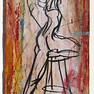 Woman on One Leg and stool by Marcie Wolf-Hubbard
