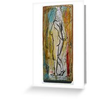 Hands Clasped Greeting Card