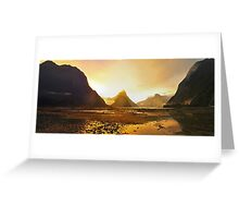 Milford Sound at Sunset Greeting Card