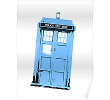 Doctor Who Blue Tardis Poster