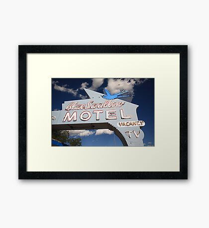 Route 66 - Blue Swallow Motel Framed Print
