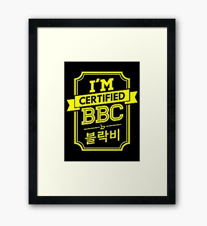 Certified BLOCK B BBC Framed Print