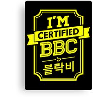 Certified BLOCK B BBC Canvas Print