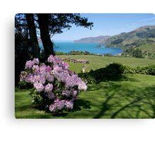 Garden View, Banks Peninsula, South Island, New Zealand. Canvas Print