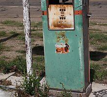Route 66 Gas Pump - Adrian, Texas by Frank Romeo