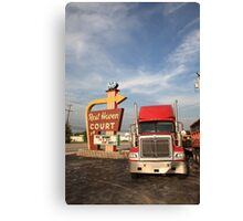 Route 66 - Rest Haven Motel Canvas Print