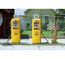 Route 66 - Illinois Gas Pumps Photographic Print
