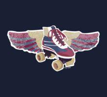 Flying Groovy Skate (grunge) by levywalk