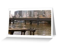 Yarra River reflections Greeting Card