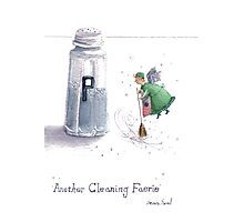 Cleaning Fairy Green Photographic Print