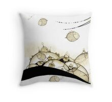 Monde Graine aquatique - Water seed world Throw Pillow
