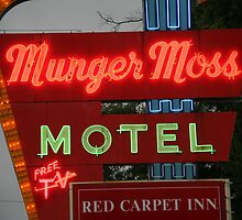 Route 66 - Munger Moss Motel by Frank Romeo