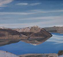 Ohau reflection by Pam Buffery