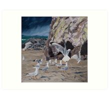 Conference at Cave Rock Art Print