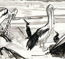 Pelican's Preen 1 by WoolleyWorld