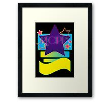 NOTEBOOKS-Recipes: 80s Retro Gradient Stars Framed Print