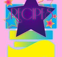 NOTEBOOKS-Recipes: 80s Retro Gradient Stars by NeonOf1986