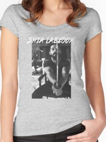 Shia Labeouf Sword Women's Fitted Scoop T-Shirt