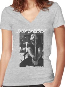 Shia Labeouf Sword Women's Fitted V-Neck T-Shirt