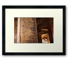 Ancient Inscriptions - Angkor Wat, Cambodia Framed Print