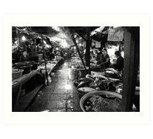 Talat Khua Din Marketplace - Vientiane, Laos Art Print